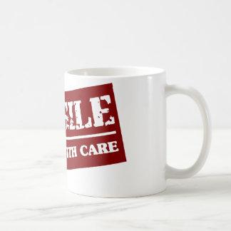 Handle with care basic white mug