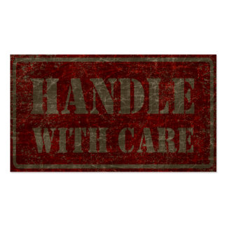 handle with care Double-Sided standard business cards (Pack of 100)