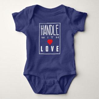 Handle With Love Dark Color Baby Bodysuit