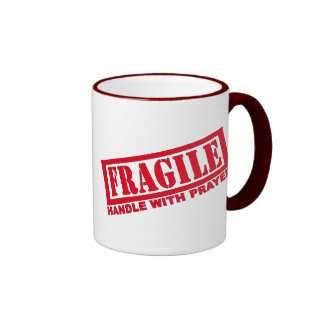 Handle With Prayer Ringer Coffee Mug