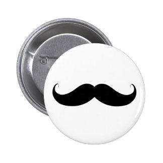 Handlebar Moustache / Mustache 6 Cm Round Badge