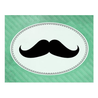 Handlebar Mustache Postcard