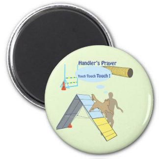 Handler's Prayer Touch 6 Cm Round Magnet