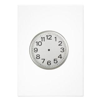 Handless clock announcement