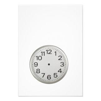 Handless clock custom invites