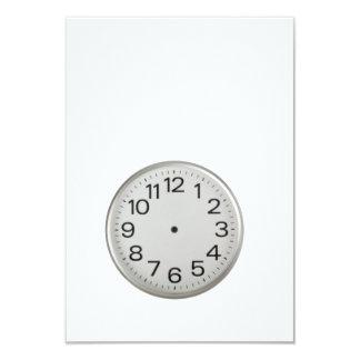 "Handless clock 3.5"" x 5"" invitation card"