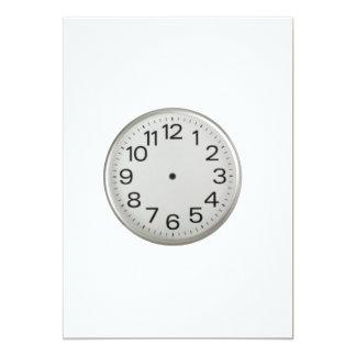 "Handless clock 5"" x 7"" invitation card"