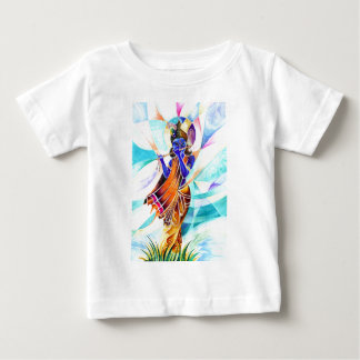 Handmade Abstract Painting of Lord Krishna Baby T-Shirt