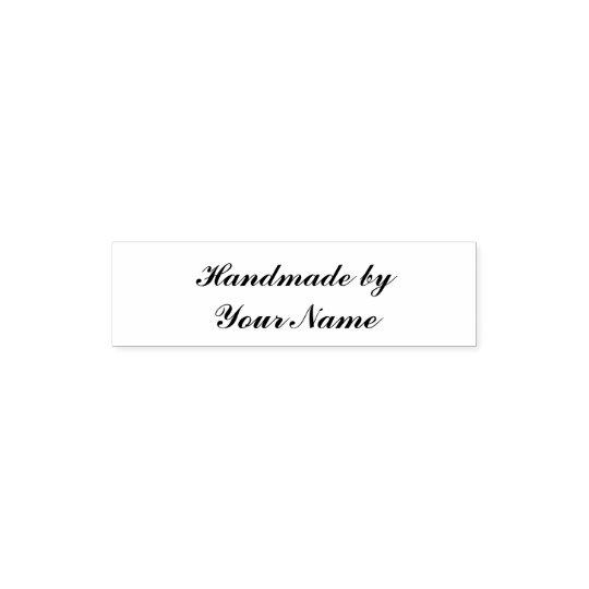 Handmade add name self-inking stamp