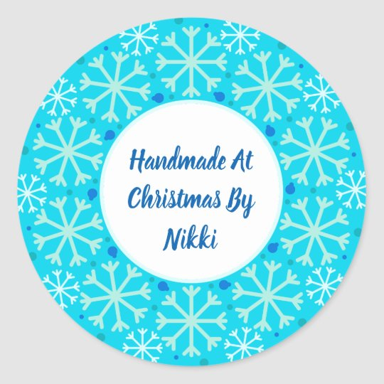 Handmade At Christmas By Stickers