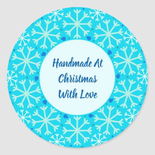 Handmade At Christmas With Love Stickers
