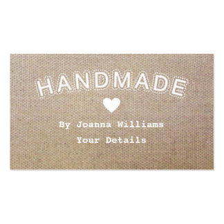 Handmade Burlap Hessian Craft Business Tags 1 Pack Of Standard Business Cards