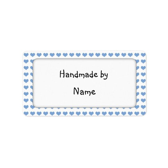 Handmade by - customisable label address label