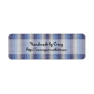 Handmade by - knitting design return address label