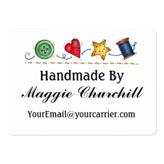 """""""Handmade By"""" - See Back 1 - SRF Pack Of Chubby Business Cards"""