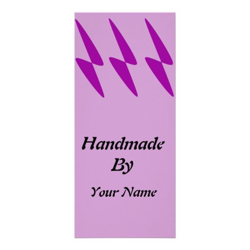 Handmade by Template Personalized Rack Card