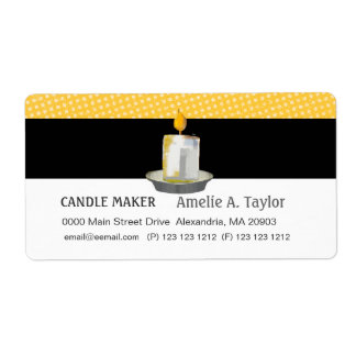 Handmade Candles Shipping Label