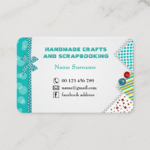 Craft buttons business cards business card printing zazzle uk handmade crafts scrapbooking business card colourmoves