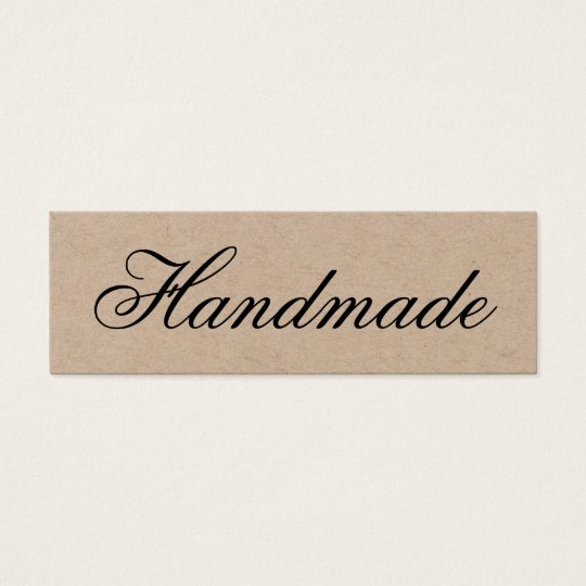 Handmade elegant vintage brown kraft business card