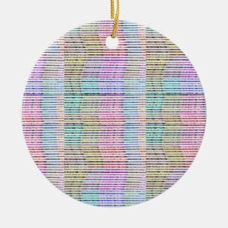 Handmade Fabric Design Pattern - Background Double-Sided Ceramic Round Christmas Ornament