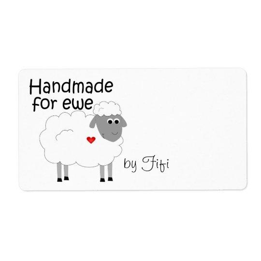 Handmade for Ewe Gift Label Shipping Label