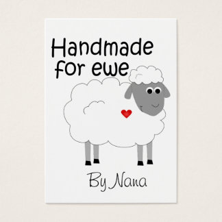Handmade for Ewe - hangtag/ flat giftcard