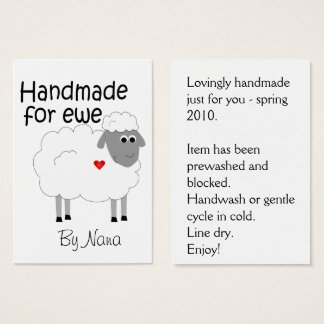 Handmade for Ewe - hangtag/ flat giftcard Business Card