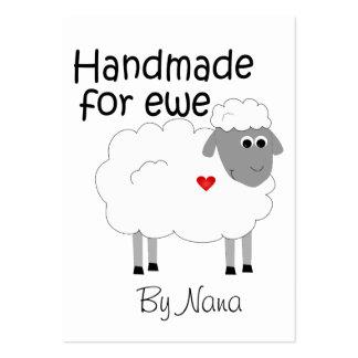 Handmade for Ewe - hangtag/ flat giftcard Business Card Templates