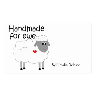 Handmade for Ewe hangtag/ flat giftcard Pack Of Standard Business Cards