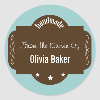 Handmade From The Kitchen Of Round Sticker