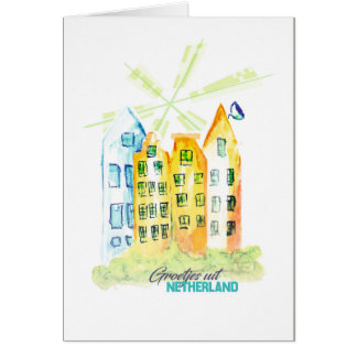 Handmade greeting card from Nederland