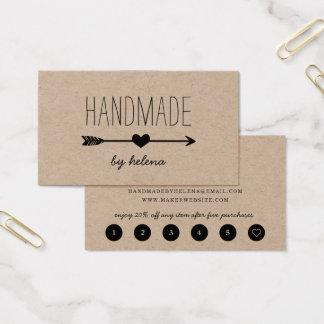 Handmade Heart | Rustic Kraft Loyalty Business Card