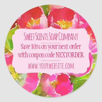Handmade Homemade Small Business Coupon Sticker
