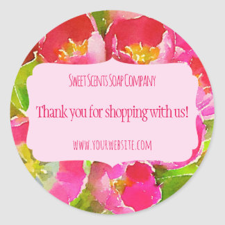 Handmade Homemade Small Business Thank you sticker