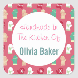 Handmade In The Kitchen Of Square Sticker