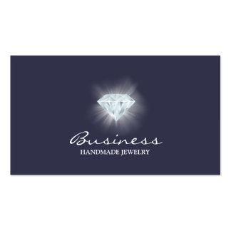 Handmade Jewelry Bright Diamond Elegant Blue Pack Of Standard Business Cards