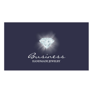 Handmade Jewelry Bright Diamond Elegant Blue Pack Of Standard Business Cards