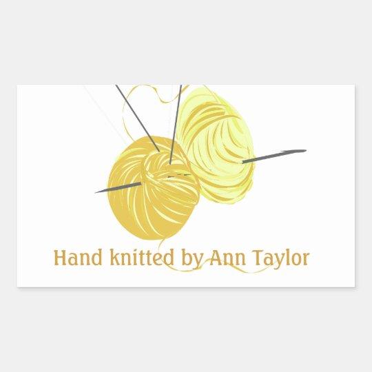 Handmade Knitting Rectangular Sticker