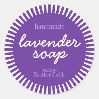 Handmade Lavender Soap Round Label Template Round Sticker