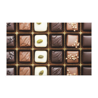 Handmade luxury chocolate in a box canvas print