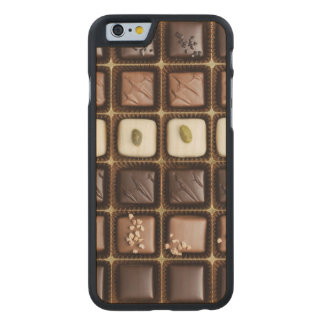 Handmade luxury chocolate in a box carved maple iPhone 6 case