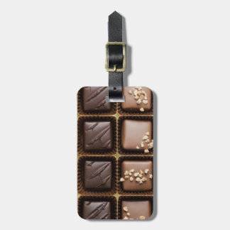 Handmade luxury chocolate in a box luggage tag