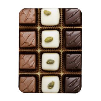 Handmade luxury chocolate in a box rectangular photo magnet