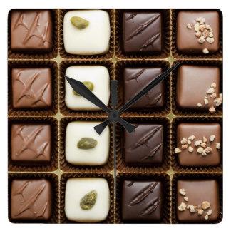 Handmade luxury chocolate in a box wallclock