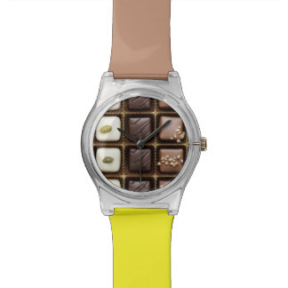 Handmade luxury chocolate in a box wrist watches