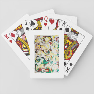 Handmade Marbled Flowers Playing Cards