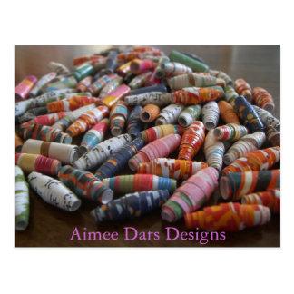 Handmade Paper Beads Postcard