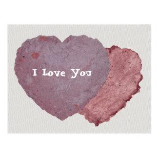 Handmade Paper Heart 010 Postcard