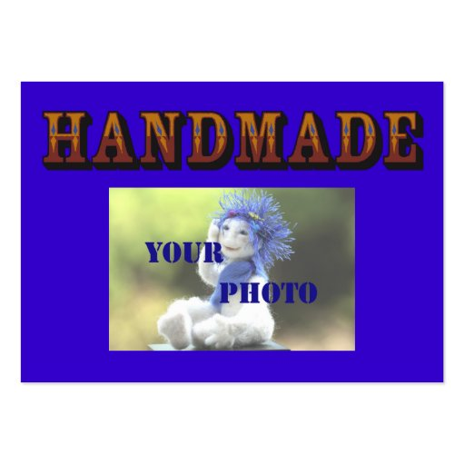 Handmade - ready to customize 2 business cards