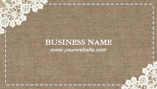 Crafty handmade business cards business card printing zazzle uk handmade sewing diy craft rustic lace burlap business card reheart Choice Image